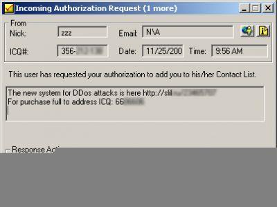 Ogłoszenie oferty za pomocą komunikatora ICQ