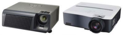 Od lewej: SD105U DLP i XL650U LCD