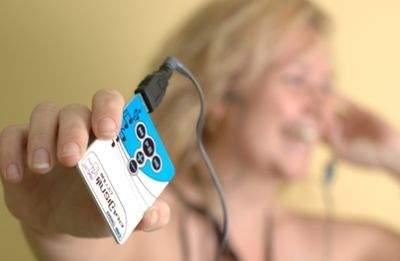 Nowy, cieniutki odtwarzacz MP3 Walletex