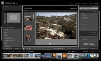 Photoshop Lightroom - moduł Web