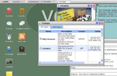 YouOS to prototyp systemu operacyjnego dostępnego przez przeglądarkę internetową.