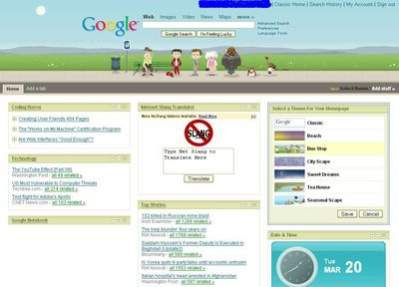 Spersonalizowana strona startowa Google