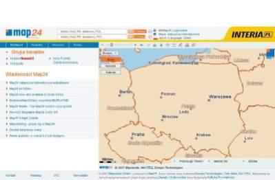 Strona główna serwisu Map24.pl