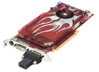 Model HD 2600 XT ma chłodzenie jednoslotowe, widoczna na zdjęciu przejściówka dołączana jest do wszystkich modeli HD 2000. Pozwala na obsługę audio i wideo po złączu HDMI