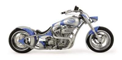 Motocykl opracowany we współpracy Orange County Choppers i Intela