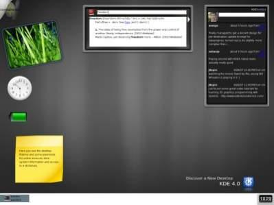 Pulpit KDE4 w drugiej wersji beta (źródło: KDE.org)