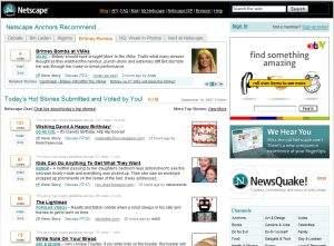 Netscape.com a'la Digg. AOL rezygnuje z takiej wersji serwisu.