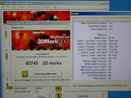Wynik 3DMark2001