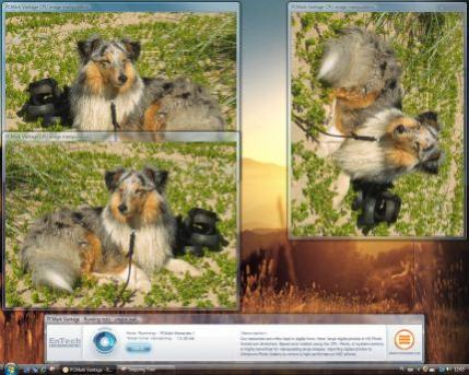 Jednym ze scenariuszy testów jest obróbka zdjęć cyfrowych w wysokiej rozdzielczości