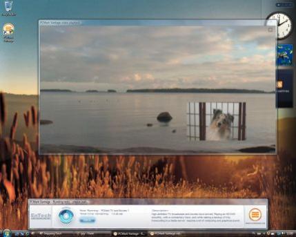 Sprawdzana jest też wydajność peceta przy wyświetlaniu filmu HD DVD i jednoczesnym podglądzie innego materiału wideo