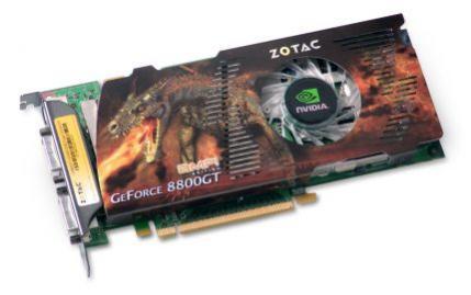 ZOTAC z procesorem GeForce 8800 GT występował w naszym teście w wersji AMP! fabrycznie podkręconej