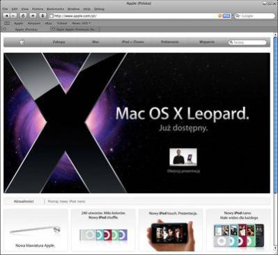 Polska wersja witryny Apple.com
