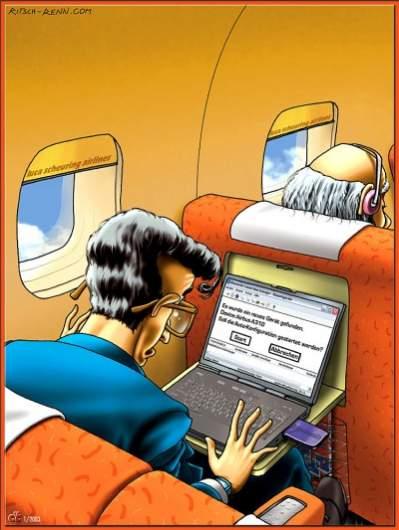 """""""Znaleziono nowe urządzenie. Wykryty sprzęt: Airbus A310. Rozpocząć automatyczną konfigurację? Start - Anuluj"""" (źródło: c't, Ritsch-Renn.com)"""