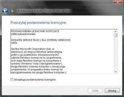 W licencji EULA właściwie nie występują polskie znaki