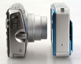 Uruchomione aparaty widziane z boku