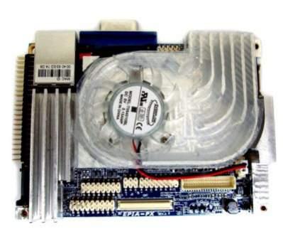 Płyta główna z procesorem Via C7 NanoBGA2 i nieco zbyt hałaśliwym systemem chłodzenia