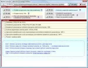 Wybór formularzy i załączników też nie stanowi problemu