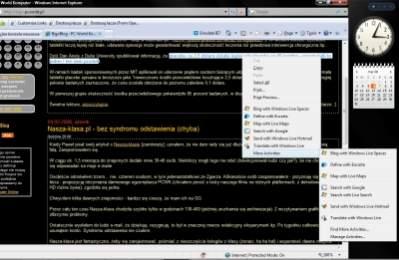 """Dodatkowe opcje w menu podręcznym. Przycisk """"Activities"""" w formularzach wypływa z tła jak menu w Office 2007"""
