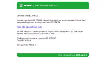 Najnowszy przypadek phishingu wykorzystuje wizerunek Banku Zachodniego WBK S.A.