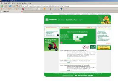 Użytkownik namawiany jest m.in. do podania numeru karty płatniczej i kodu PIN do bankomatu