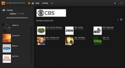 Seriale CBS w ofercie Adobe TV