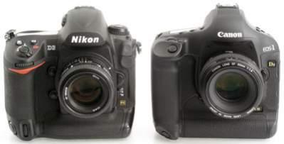 Nikon D3 oraz Canon EOS 1 Ds Mark III