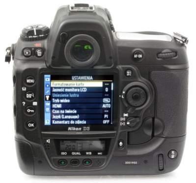 Nikon D3 - plecki lustrzanki
