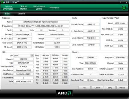 Dane techniczne pierwszego 3-rdzeniowego CPU AMD Phenom X3 8750