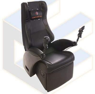 Ultimate Game Chair - brakuje jedynie klatki antykapotażowej i wielopunktowych pasów bezpieczeństwa