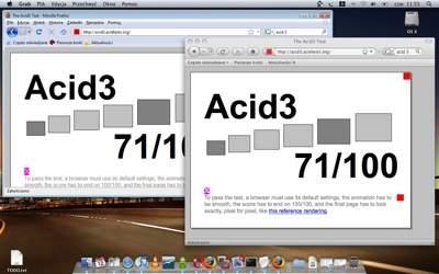 Firefox 3 RC3 w systemie Windows Vista (po lewej) oraz Mac OS X 10.5 (po prawej)
