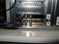 Tylny panel gniazd karty z procesorem ATI Theater 550 PRO